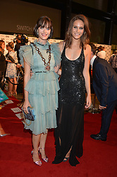 Left to right, SAM ROLLINSON and CHARLOTTE WIGGINS  at the GQ Men of The Year Awards 2016 in association with Hugo Boss held at Tate Modern, London on 6th September 2016.