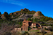"""Masia del Marquet de les Roques, Vall d'Horta, Sant Llorenç del Munt i l'Obac, Catalunya, Spain. The original house dates to ~1200, but this structure dates to 1895.  House was rebuilt then by grandfather of the poet Joan Oliver """"Pere Quart"""". The architect was Juli Batllevell i Arús.It was the summer residence of poet Joan Oliver."""