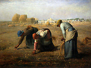 Jean-François Millet (October 4, 1814 – January 20, 1875) was a French painter and one of the founders of the Barbizon school. The Gleaners, 1857. Musée d'Orsay, Paris.