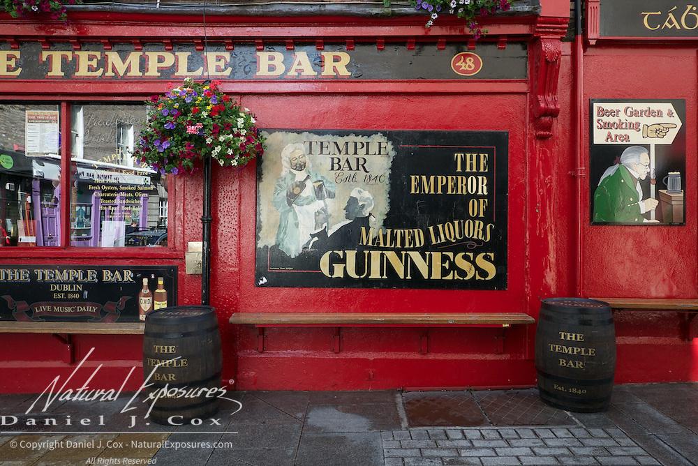 Temple Bar, downtown Dublin, Ireland.