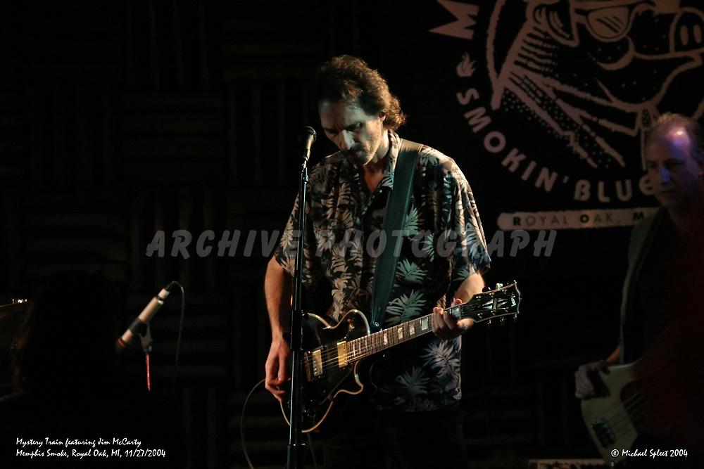 ROYAL OAK, MI, SUNDAY, NOV. 28, 2004 : Mystery Train featuring Jim McCarty, Jim McCarty, Marvin Conrad at Memphis Smoke, Royal Oak, MI, 11/28/2004.  (Image Credit: Michael Spleet / 2SnapsUp Photography)