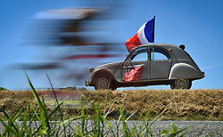 July 15, 2017 - Rodez, FRANCE - Illustration picture taken during the 14th stage of the 104th edition of the Tour de France cycling race, 181,5 from Blagnac to Rodez, France, Saturday 15 July 2017. This year's Tour de France takes place from July first to July 23rd. BELGA PHOTO DAVID STOCKMAN (Credit Image: © David Stockman/Belga via ZUMA Press)