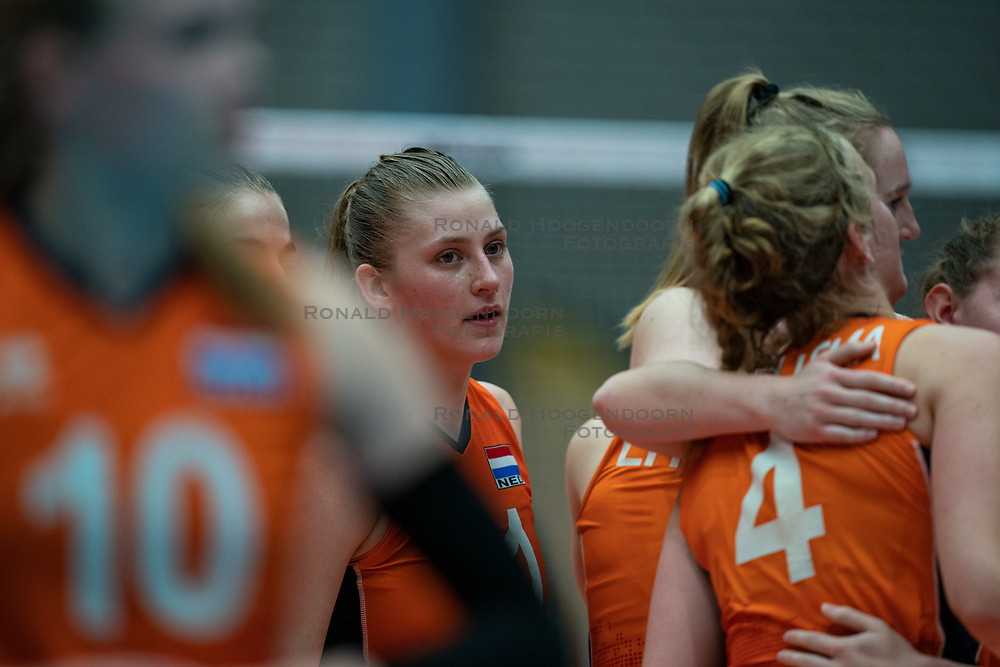 Elles Dambrink of Netherlands during semi final Netherlands - Serbia, FIVB U20 Women's World Championship on July 17, 2021 in Rotterdam