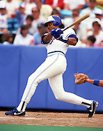TORONTO - 1987:  Jesse Barfield of the Toronto Blue Jays bats during an MLB game at Exhibition Stadium in Toronto, Canada.   Barfield played for the Blue Jays from 1981-1989. (Photo by Ron Vesely)