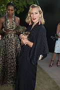 CHARLOTTE OLYMPIA DELLAL, Serpentine's Summer party co-hosted with Christopher Kane. 15th Serpentine Pavilion designed by Spanish architects Selgascano. Kensington Gardens. London. 2 July 2015.