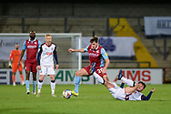 Scunthorpe United Lewis Spence (20) controls the ball during the EFL Sky Bet League 2 match between Scunthorpe United and Bolton Wanderers at the Sands Venue Stadium, Scunthorpe, England on 24 November 2020.