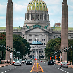 Harrisburg, PA - October 5, 2014: The Pennsylvania State Capital Building, in Harrisburg, Dauphin County, PA.