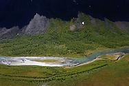 The famous Rapa river delta, Sarek National Park, Laponia UNESCO World Heritage Site, Greater Laponia rewilding area, Lapland, Norrbotten, Sweden