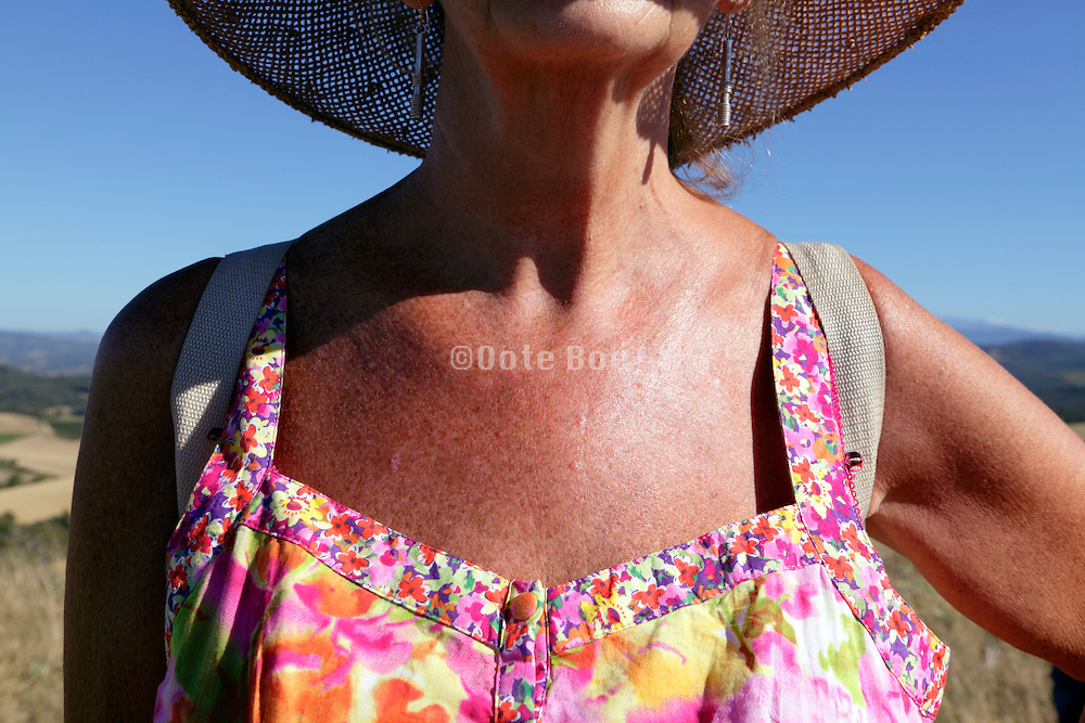 senior woman during an outdoors hiking trip
