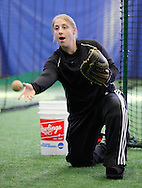 Chester, New York - An instructor pitches the ball to a young player at the first anniversary open house celebration at The Rock Sports Park on Nov. 12, 2011.
