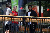 Football - 2021 EUFA European Championships - Finals - Group D - England vs Croatia, Wembley Stadium<br /> <br /> Former England International footballer Darren Bent at the Box Bar on Wembley Way.<br /> <br /> COLORSPORT/ASHLEY WESTERN