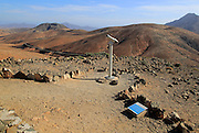 Mirador Sicasumbre mountain top viewpoint, Pajara, Fuerteventura, Canary Islands, Spain