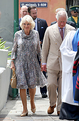 The Prince of Wales and the Duchess of Cornwall attending a church service at St Michael's Cathedral in Bridgetown, Barbados.