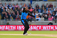 Wicket - Moeen Ali of Worcestershire successfully appeals for the LBW against Arron Lilley of Lancashire during the Vitality T20 Finals Day Semi Final 2018 match between Worcestershire Rapids and Lancashire Lightning at Edgbaston, Birmingham, United Kingdom on 15 September 2018.