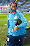 Blackburn Rovers midfielder Elliott Bennett (31) arrives for  the EFL Sky Bet Championship match between Blackburn Rovers and Birmingham City at Ewood Park, Blackburn, England on 8 May 2021.