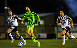 Aaron Collins of Forest Green Rovers is chased down by Luke Joyce of Port Vale- Mandatory by-line: Nizaam Jones/JMP - 16/01/2021 - FOOTBALL - innocent New Lawn Stadium - Nailsworth, England - Forest Green Rovers v Port Vale - Sky Bet League Two