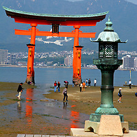 Asia, Japan, Miyajima. World famous Floating Torii, or Itsukushima Shrine, of Miyajima.
