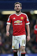 Juan Mata of Manchester United looking dejected after missing a chance to score. Barclays Premier league match, Chelsea v Manchester Utd at Stamford Bridge in London on Sunday 7th February 2016.<br /> pic by John Patrick Fletcher, Andrew Orchard sports photography.