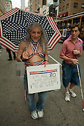 A hopeful woman, 80 yeas old, marching in the 2011 Pride Parade on New York's Fifth Avenue.