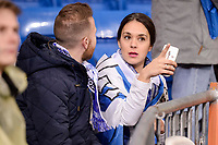 Real Sociedad's supporter during La Liga match between Real Madrid and Real Sociedad at Santiago Bernabeu Stadium in Madrid, Spain. January 29, 2017. (ALTERPHOTOS/BorjaB.Hojas)