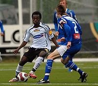 Fotball 2. divisjon Rosenborg 2 - Tromsø 2,<br /> Traore mot Thomas Braaten<br /> Foto: Carl-Erik Eriksson, Digitalsport