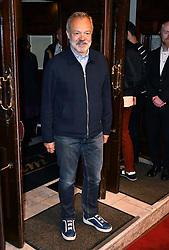 May 29, 2019 - London, London, United Kingdom - Graham Norton attends press night for The Starry Messenger following an astronomer who's forced to re-evaluate his life and faith following a catastrophic event at Wyndham's Theatre.. The Starry Messenger press night. (Credit Image: © Nils Jorgensen/i-Images via ZUMA Press)