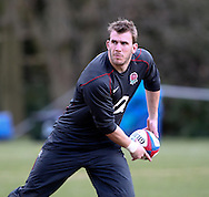 Tom Croft in action during the England elite player squad trainnig session at Pennyhill Park, Bagshot, UK, on 11th March 2011  (Photo by Andrew Tobin/SLIK images)