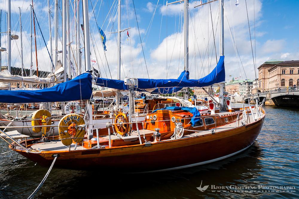 Sweden, Stockholm. Veteran boats.