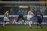 Milano 28/11/2004 Campionato Italiano Serie A<br /> <br /> Inter Juventus 2-2<br /> <br /> Pavel Nedved scores 1-0 for Juventus with help of Marcelo Zalayeta that deflets the ball after the shot<br /> <br /> Foto Andrea Staccioli Graffiti