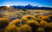 Mount Fitz Roy is a mountain located near El Chaltén village in Patagonia, on the border between Argentina and Chile
