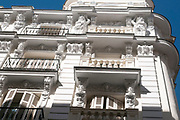 Details of a building on Calle Mayor, Madrid, Spain