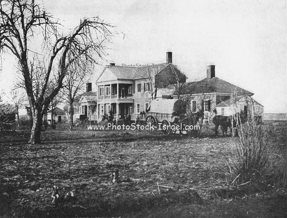 During the American Civil War, the Lacys abandoned Chatham Manor. Its strategic site overlooking Fredericksburg briefly served as Union headquarters, and later as the major Union hospital during battles for control of the strategic Virginia city and Spotsylvania County en route to the Confederate capital. from the book ' The Civil war through the camera ' hundreds of vivid photographs actually taken in Civil war times, sixteen reproductions in color of famous war paintings. The new text history by Henry W. Elson. A. complete illustrated history of the Civil war