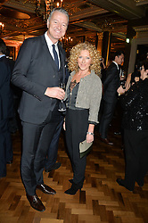RICHARD THOMPSON Chairman – Debrett's People of Today and KELLY HOPPEN at a reception to celebrate the Debrett's 500 2015 - a recognition of Britain's 500 most influential people, held at The Club at The Cafe Royal, 68 Regent Street, London on 26th January 2015.