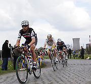 France, Valenciennes, Sunday 11th April 2010: Action from section 16, Hornaing à Wandignies-Hamage (3,7km) pave during the 108th edition of the Paris Roubaix cycle race. Copyright 2010 Peter Horrell.