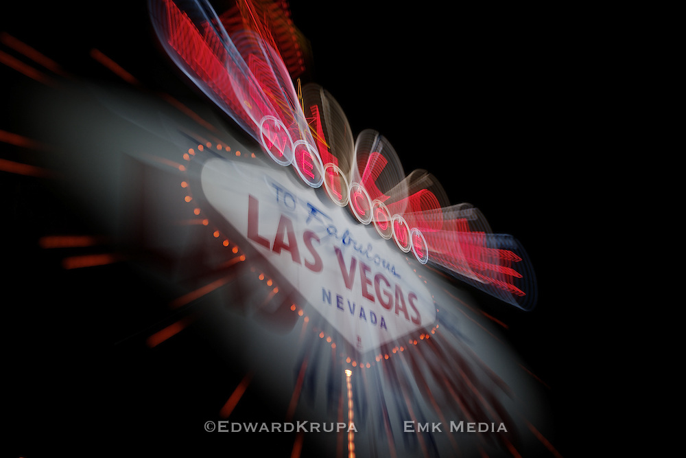 Welcome to Fabulous Las Vegas sign. Enhanched.