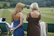 Ella Zimina and Mrs. Sergei Kolushev, Guy Leymarie and Tara Getty host The De Beers Cricket Match. The Lashings Team versus the Old English team. Wormsley. ONE TIME USE ONLY - DO NOT ARCHIVE  © Copyright Photograph by Dafydd Jones 66 Stockwell Park Rd. London SW9 0DA Tel 020 7733 0108 www.dafjones.com