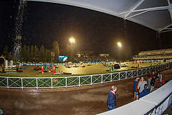 Longines Challenge Cup postponed due to heavy rain and thunder<br /> Furusiyya FEI Nations Cup Jumping Final - Barcelona 2016<br /> © Hippo Foto - Libby Law<br /> 23/09/16