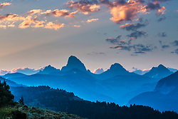 Grand Teton sunrise from Alta Wyoming. The quiet side of the Tetons as the western slope is often know as is mostly Idaho, but a bit of Wyoming laps into it.