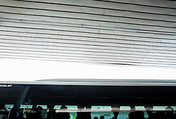 Players in bus after arrival of  England National Football team 1 day before EURO 2016 Qualifications match against Slovenia, on June 13, 2015 in Airport Joze Pucnik, Brnik - Ljubljana, Slovenia. Photo by Vid Ponikvar / Sportida