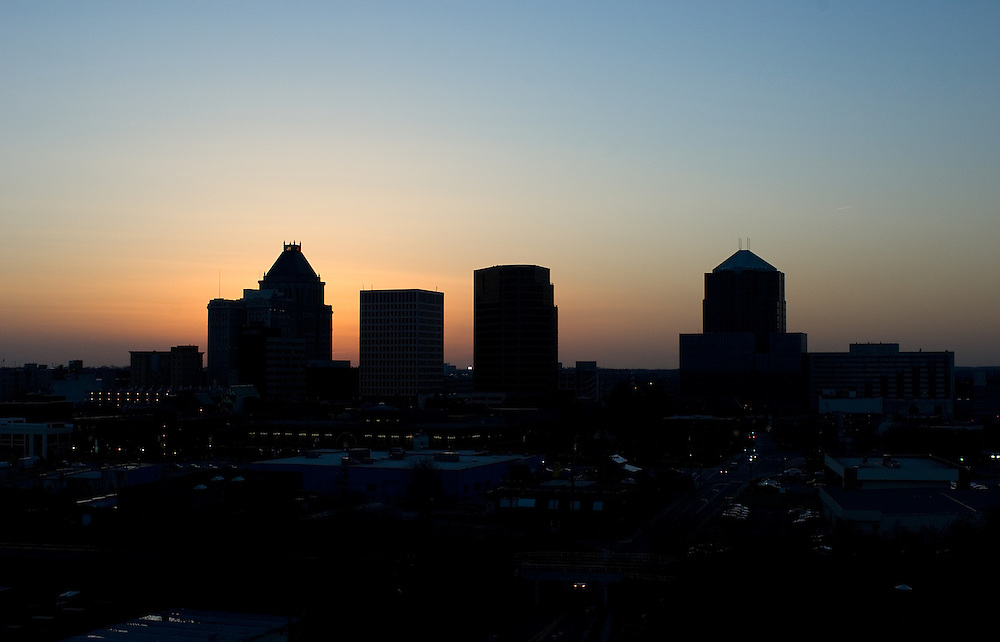 aerial photo of downtown greensboro 1/12/06