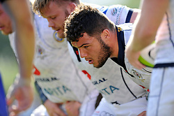 Ellis Genge (Bristol) looks on prior to a scrum - Photo mandatory by-line: Patrick Khachfe/JMP - Mobile: 07966 386802 17/08/2014 - SPORT - RUGBY UNION - Bristol - Clifton Rugby Club - Bristol Rugby v Newport Gwent Dragons - Pre-Season Friendly