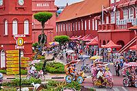Malaisie, état de Malacca, Malacca, Centre historique, patrimoine Mondial de l'Unesco, place de la ville // Malaysia, Malacca state, Malacca, Unesco Wold Heritage, City square