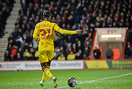 Raheem Sterling during the Capital One Cup match between Bournemouth and Liverpool at the Goldsands Stadium, Bournemouth, England on 17 December 2014.