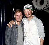 """Nick Carter And Brian Littrell Visit Broadway's """"Disaster!"""""""
