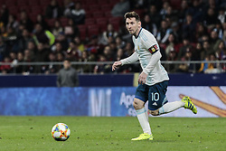 March 22, 2019 - Madrid, Spain - Argentina's Leo Messi have words with the referee during International Adidas Cup match between Argentina and Venezuela at Wanda Metropolitano Stadium. (Credit Image: © Legan P. Mace/SOPA Images via ZUMA Wire)