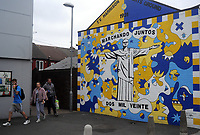 Football - 2020 / 2021 EFL Cup - Round Two - Leeds United vs Hull City<br /> <br /> Mural of Leeds United manager Marcelo Bielsa , at Elland Road<br /> <br /> COLORSPORT/ANDREW COWIE
