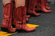 Nov 15-18, 2012: Grid girl boots.© Jamey Price/XPB.cc