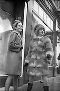 06/02/1968.02/06/1968.06 February 1968. Adrienne Ring, Ballyjamesduff, (right) wearing a Russian Red Fox Mini Fur Coat and matching Cossack hat, by David Vard and Pat Murphy 6 Vernon Grove, Rathgar, wearing a Lakoda Seal Coat trimmed with Pastel Mink and matching hat which will be shown at the W.I.Z.O. 'Preview to Spring' fashion show at the Gresham Hotel, Dublin on Monday next, 12th Feb. 1968.