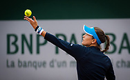 Monica Puig of Puerto Rico in action during the first round at the Roland Garros 2020, Grand Slam tennis tournament, on September 28, 2020 at Roland Garros stadium in Paris, France - Photo Rob Prange / Spain ProSportsImages / DPPI / ProSportsImages / DPPI