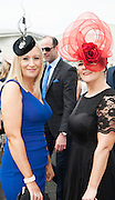 30/07/2015 report free : Winners Announced in Kilkenny Best Dressed Lady, Kilkenny Best Irish Design & Kilkenny Best Hat Competition at Galway Races Ladies Day <br /> From Left at the event were Aisling Nic Dohertaigh with Michelle Ní Chronín, Galway<br /> Photo:Andrew Downes, xposure